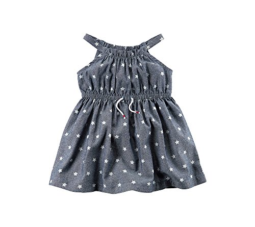 Carter's Baby Girls' Star Printed Chambray Dress, Blue, 9 Months