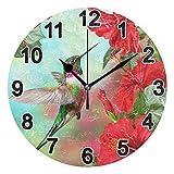 FULUHUAPIN Reloj de pared de baño para niña niño sin tictac, silencioso, fácil de leer para decoración de dormitorio 22.5 cm, reloj redondo 20301393