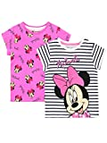 Disney Maglietta Maniche Corta per Ragazze Topolina Minnie Mouse Confezione da 2 Multicolore 18-24 Mesi
