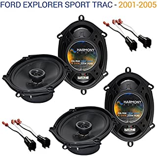 Compatible with Ford Explorer Sport Trac 2001-2005 Factory Speaker Upgrade Harmony (2) R68 New