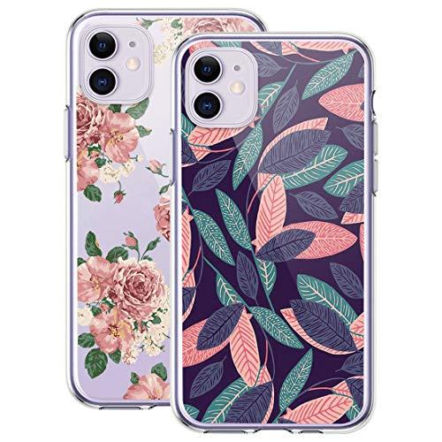 kinnter 2 Stück Silikonhülle Kompatibel mit iPhone 11 Hülle 360 Grad Stoßfest Kratzfest Schutzhülle Ultra Dünn Soft Rückschale Handyhülle TPU Tasche Cover für iPhone 11