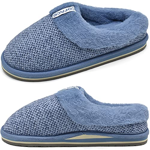Arch Support Slippers Women Plantar Fasciitis Slippers Women House Slippers with Arch Support Slip on House Shoes Warm Ladies Slippers Size 7 Blue