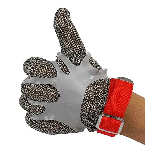 Kettenhandschuhe 316L-Stahlring Cut-resistente Handschuhe, Küchenschlachtsicherheitshandschuhe, komfortabel und rutschfest (Color : 4pcs/XS)