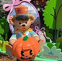 ポップコーンバケット ポップコーンバケツ ハロウィン ダッフィー フレンド 上海 ディズニー ポップコーンケース かぼちゃ