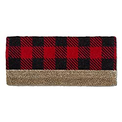 buffalo plaid christmas decor doormat