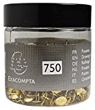 Exacompta - Réf. 14768E - 1 Boîte de 750 punaises en laiton - Hauteur de pointe 9mm - 9,5mm de diamètre - Laiton
