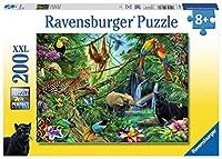 Tiere im Dschungel. Puzzle 200 Teile XXL