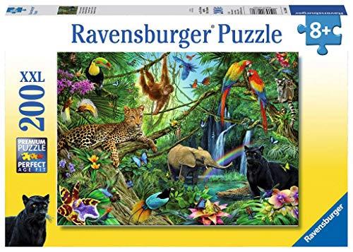Ravensburger- Non Disney Puzzle Animaux de la Jungle 200 pièces, 12660