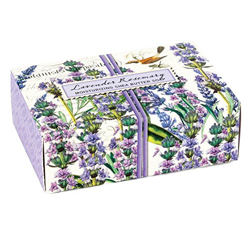 Michel Design Works 4.5oz Boxed Single Shea Butter Soap, Lavender Rosemary