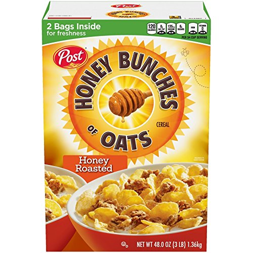 Post Honey Bunches of Oats Crunchy Roasted Cereal, 48 Oz