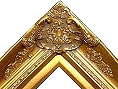 """4/"""" Gold Leaf Wood Antique Picture Frame wide photo art wedding gallery B9Gb"""