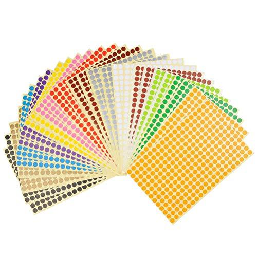 Etiquetas Adhesivas Redondas Colores Marca YOTINO