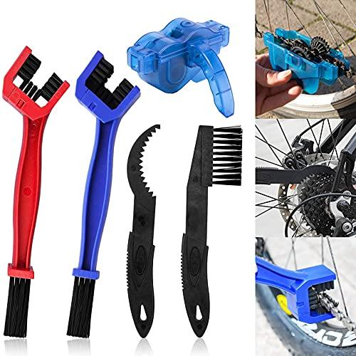 Herramientas de Limpieza para Bicicleta,Juego de Limpiador de Cadena de Bicicleta,Kit de Limpieza de Cadenas,Kit de Cepillos Para Bicicleta,Herramienta de Limpieza de Cadenas