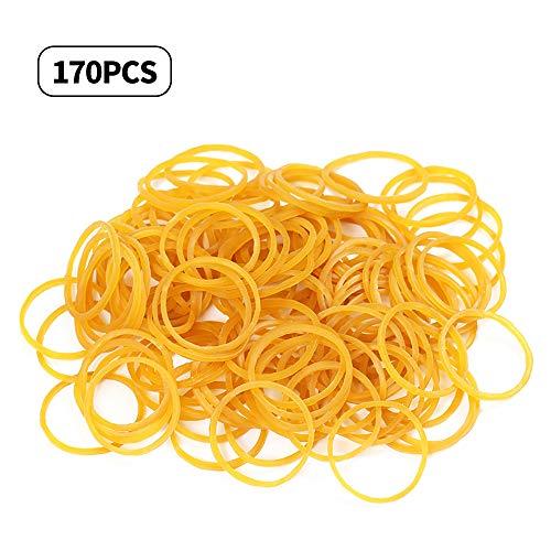 Homo Trends bandas de goma, 170 piezas de bandas elásticas grandes de goma para oficina, escuela, hogar, suministros de oficina, hogar, diámetro: 6 cm