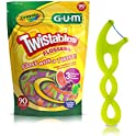 90-Count GUM Crayola Twistables Flossers, Fluoride Coated