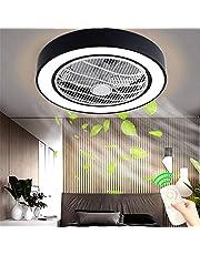 Ventilator Aan Het Plafond Met Verlichting, Ventilator Aan Het Plafond Ventilator LED-Licht, Verstelbare Windsnelheid, Dimbaar Met Afstandsbediening, 36W Moderne LED Plafondlamp Slaapkamer Woonkamer
