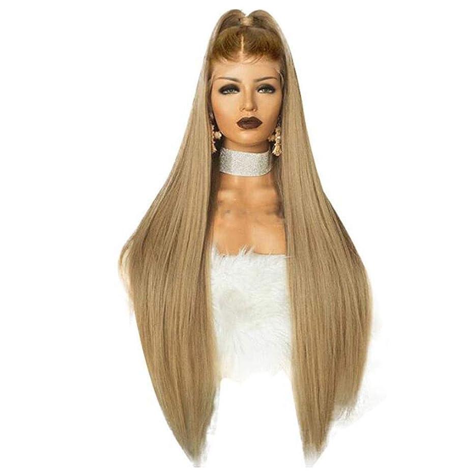 マーチャンダイザー好奇心年金かつらロングストレート耐熱合成フルヘッドプレミアム 150% 密度毎日の髪の交換かつら女性のための,24inch