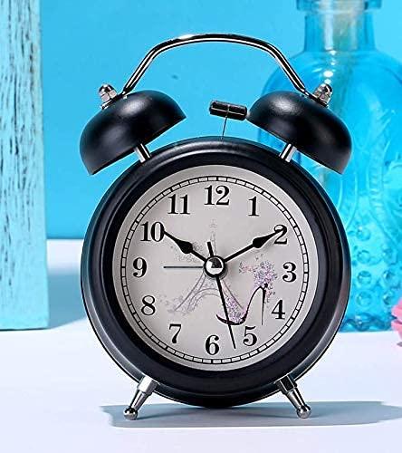 JYSXAD Reloj Despertador, Reloj Despertador para niños Reloj Despertador Retro, Reloj de Mesa para Sala de Estar, Reloj Decorativo, Estilo Retro de Cuarzo silencioso Minimalista Moderno q