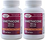 Simethicone 180 mg 360 Softgels Anti-Gas Generic for Phazyme Ultra Strength Fast Relief of Stomach...