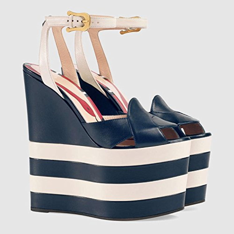 Donyyyy Damen Sandalen im Frühjahr, die Fische Mund Streifen und der Frauen Sandalen, rote Streifen, vierzig - ein  | Produktqualität  | Düsseldorf Online Shop  | Erschwinglich