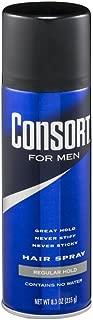 Consort For Men Hair Spray Regular Hold 8.3 oz (Pack of 6)