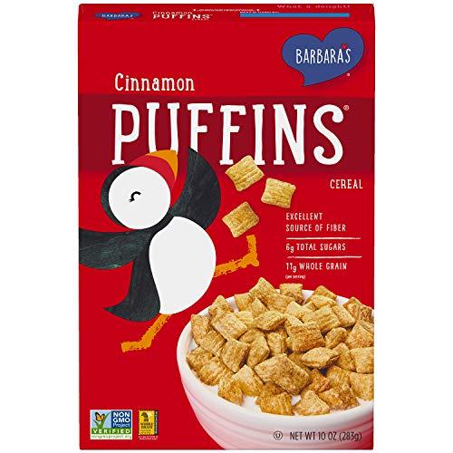 Barbara's Puffins Cinnamon Cereal, Non-GMO, Vegan, 10 Oz Box