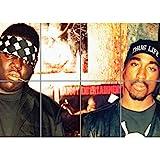 Doppelganger33 LTD Biggie and Tupac 2Pac Wand Kunst Multi