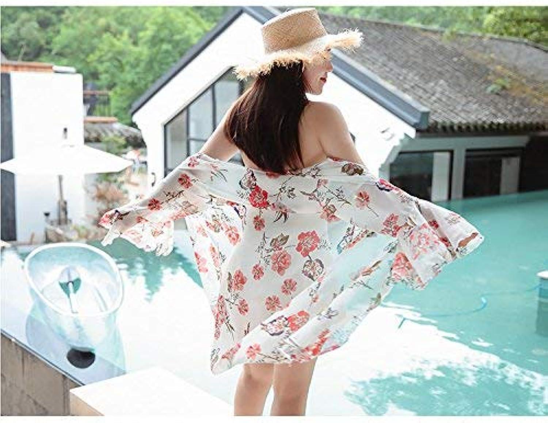 ZHRUI Badeanzug Zweiteiler Rock Stil Grafik Dünn Stil Einteiler Mit Hemd, Weiß Zweiteiler, XXXL (Farbe   Wie Gezeigt, Größe   Einheitsgröße) B07MPNCDCF  eine breite Palette von Produkten