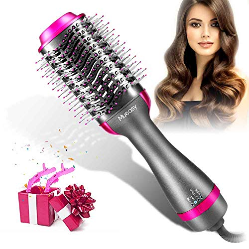 Haartrockner Warmluftbürste, Mueasy 5 IN 1 Upgrade Warmluftbürste Hair Dryer Volumizer, Heißluftbürste Negativer Lon Föhnbürste Stylingbürsten Haarglätter Bürste Heißluftkamm Föhn Für Alle Styling
