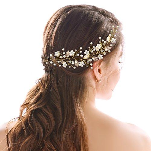 handcess boda diadema decorativo de cristal hojas de oro griego novia Boho accesorios para el pelo para Novias y damas de honor–9,8