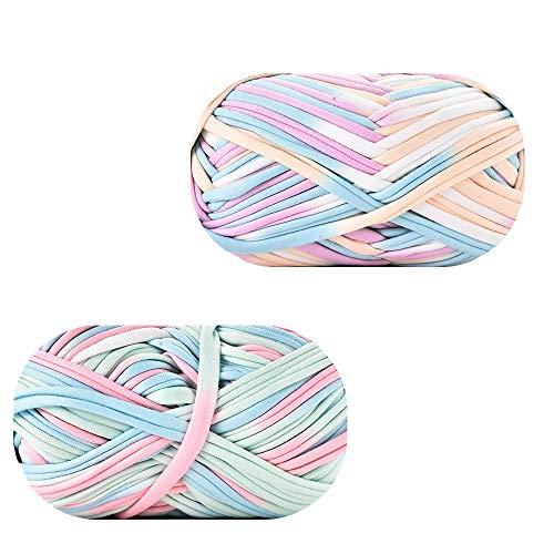 2 Pieces Weaving Yarn Crochet Thread, Knitting Yarn, Crochet Yarn, T-Shirt...