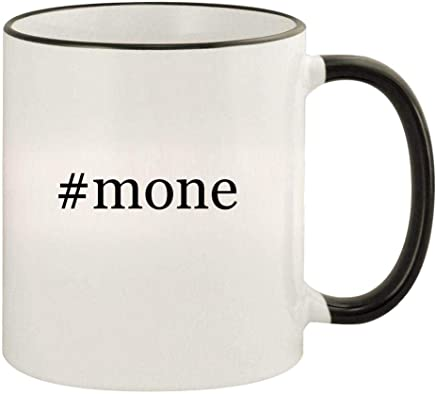#mone - 11oz Hashtag Colored Rim and Handle Coffee Mug, Black