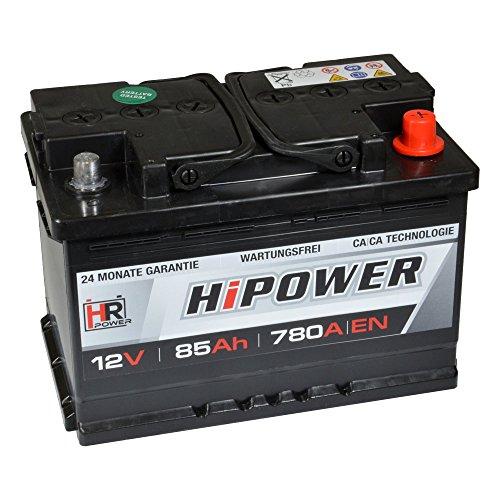 HR HiPower Autobatterie 12V 85Ah 780A/EN Starterbatterie ersetzt 80AH 77AH 74AH 75AH 72AH