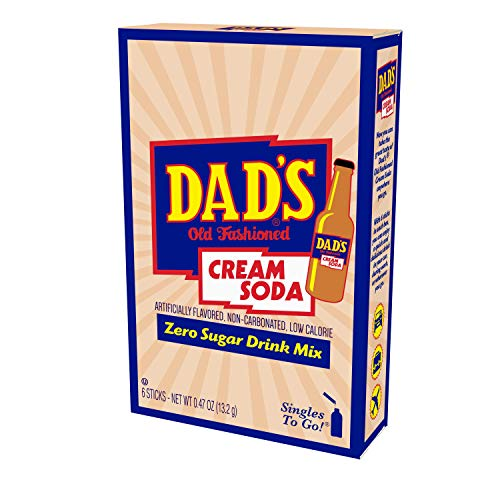 Dad's Old Fashioned Cream Soda Singles to Go, Pack of 12 – Enjoy Classic Taste of Dad's Cream Soda On the Go – Low Calorie Powder Drink Mix – Just Add Water, 1.01 Pound (Pack of 12)