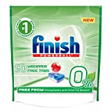 Finish 0% - 50ct - Dishwasher Detergent - Powerball - Dishwashing Tablets - Dish Tabs