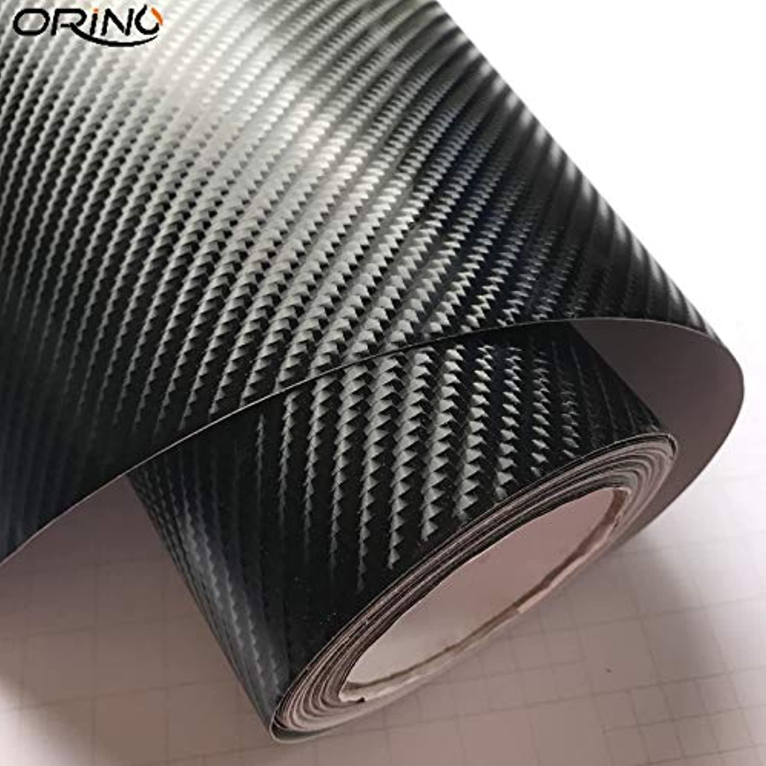 Gloss Ultra Shining 6D Black Carbon Fiber Vinyl Car Wrap Film with Air Bubble Free for Car Wrap Foil Size 1.52  20m Roll