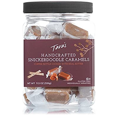 Tara's All Natural Handcrafted Gourmet Snickerdoodle Caramel: Small Batch, Kettle Cooked, Creamy & Individually Wrapped - 11.5 Ounce