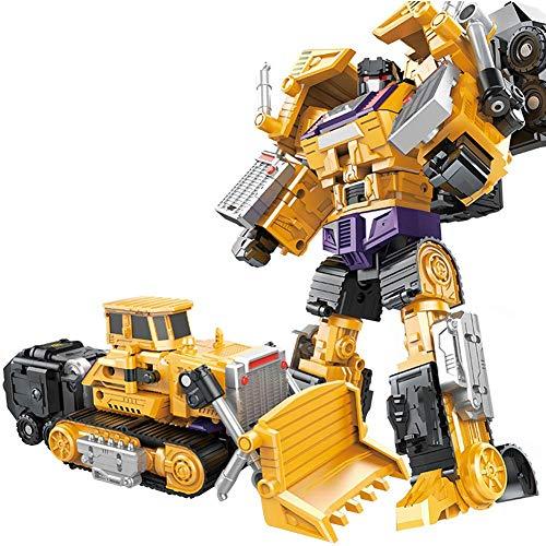 Househome Devastator, Creative Combination Robot Transformer Truck Transform Car Toys for Boys, Erdiges Gelb