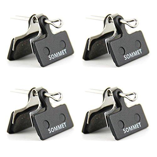4 Pares SOMMET Pastillas Freno Disco Semi-metálico para Shimano Deore M615 /...