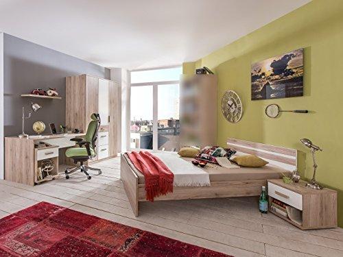 Jugendzimmer Cariba Komplett Verschiedene Ausführungen Kinderzimmer Möbel (Jugendzimmer Cariba 5 teilig, Eiche San Remo)