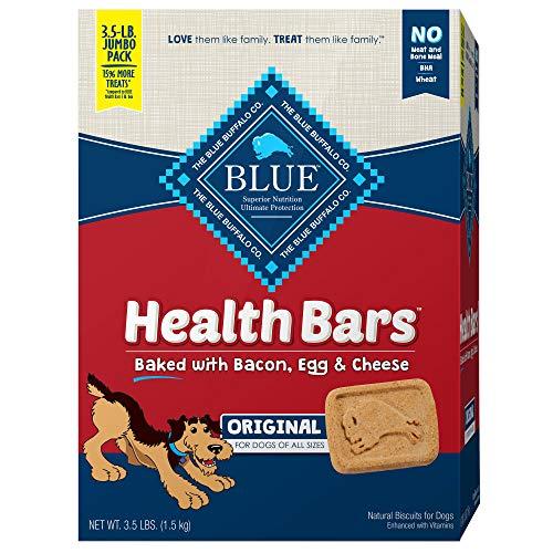 Blue Buffalo Health Bars Natural Crunchy Dog Treats Biscuits, Bacon, Egg & Cheese 56-oz Box