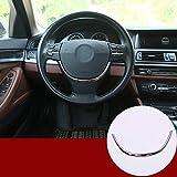 WYZXR Tiras de Volante de Acero Inoxidable Lentejuelas Adorno Adhesivo Compatible 5 Series F10 2011-2017 Accesorios para automóviles (Plata Brillante)