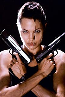 Angelina Jolie Tomb Raider Stunning With Guns Poster