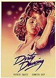 Dirty Dancing Retro Movie Art Poster Imprimir en lienzo Obra de arte Imágenes de la habitación para la sala de estar Decoración del dormitorio Decoración del hogar Regalo único-50x75cm Sin marco