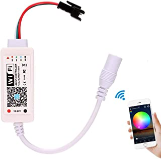 Led Programmable Controller,Abedoe Wifi Magic RGB LED Strip Controller for WS2811 2812B 16703 LED Pixel Module Light Compatible with Alexa Google Assistant IFTTT,Android IOS Phone 12-24V