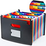 FileFolderOrganizer, Expandable 24 Pockets Colored Hot Pressing Forming Accordion File Keeper...