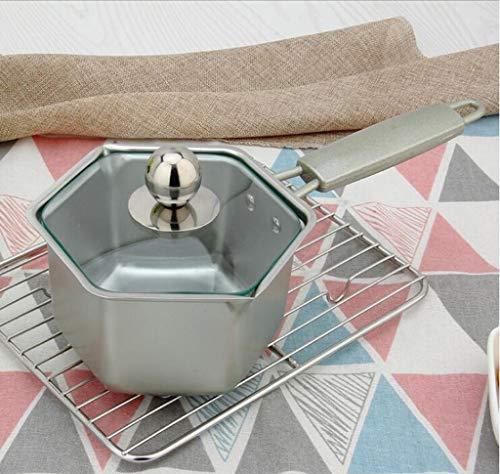 QXX Pot de Lait Maison Pot en Acier Inoxydable Pot bébé Nourriture pour bébé Pot antiadhésif (Couleur : Blanc)