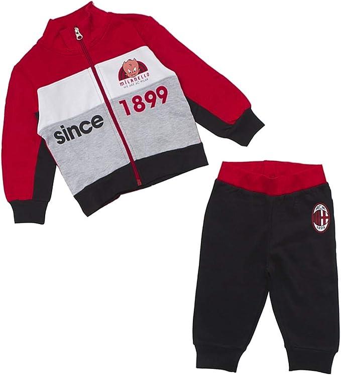 AC Milan Tuta Neonato Felpata Full Zip Art. MO38