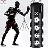 Maxstrength 1,5m garni Sac de frappe Heavy Duty UFC Sac de kick boxing MMA karaté...