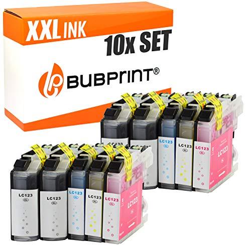 10 Bubprint Druckerpatronen kompatibel für Brother LC-123 für DCP-J132W DCP-J152W DCP-J4110DW DCP-J552DW DCP-J752DW MFC-J245 MFC-J4410DW MFC-J4510DW MFC-J470DW MFC-J6520DW MFC-J6720DW MFC-J870DW